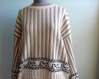 100 cotton vintage Pierre Cardin Mens Sweater