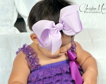 Lavender bow headband, baby girl headband, lavender bow or clip, girl headband, infant headband,  girl bow, baby headbands