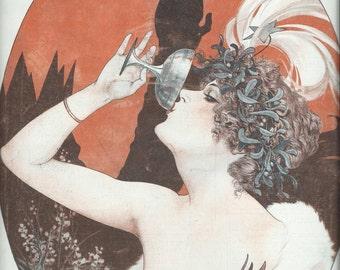 La Vie Parisienne La Regne D'Une Nuit D'Hiver / La Reine D'Un Souper De Carnaval - Print