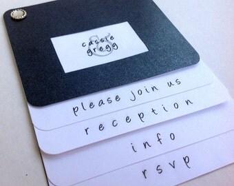 6 Page - Booklet Invitation Suite - Modern Slider Style