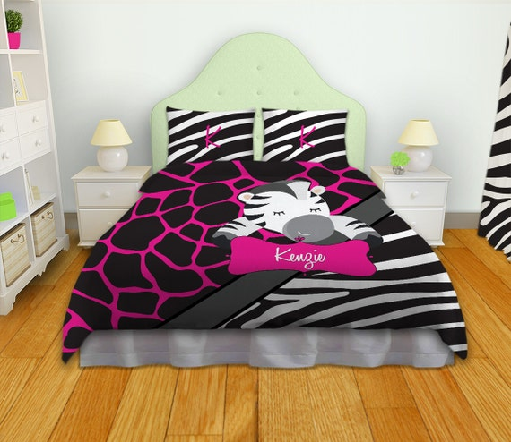 Items similar to kids bedding kids comforters zebra Zebra print bedding
