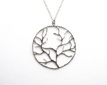 Tree of Life Necklace in Silver, Family Tree Necklace, Wedding Jewelry, Bridesmaid Jewelry, Graduation Gift