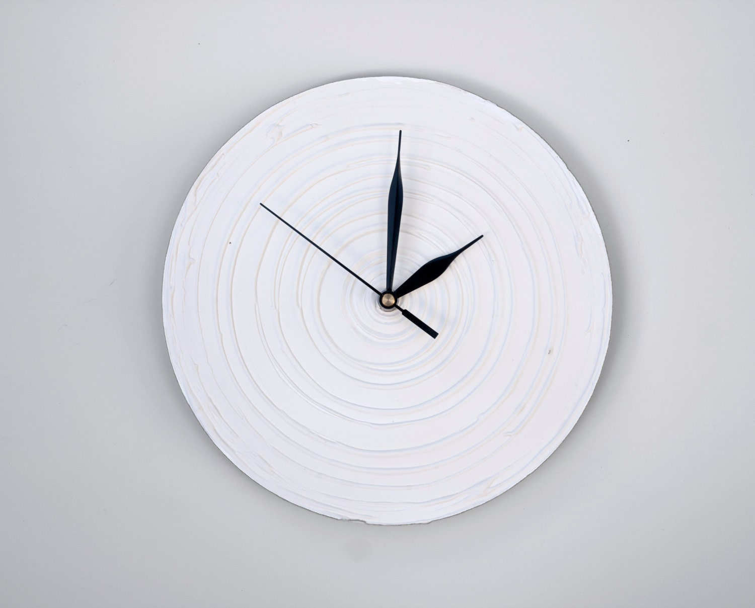 White Clock Modern Wall Clock White Wall Clock Wood Clock