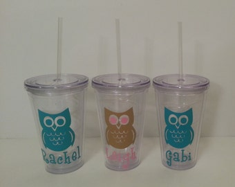Owl Tumblers with straw