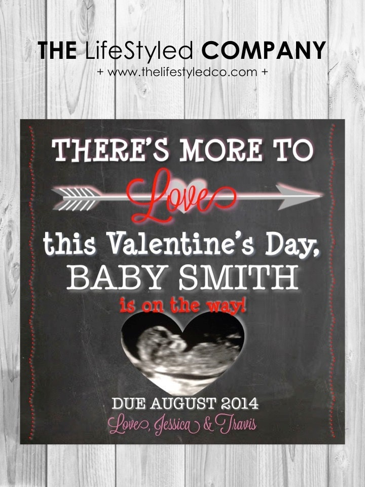 Ultrasound Valentines Day Pregnancy Announcement
