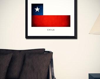 Chile Flag Art Print