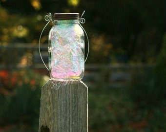 Mason Jar Lights - Fairy Garden - Solar Jar Lights - Fairy Lantern - Garden Decor - Fairy Jar - Lanterns - Firefly Lantern - Mason Jar Decor