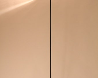 6 feet TILTING HEAD TORCHERE Italia minimalist halogen floor lamp  vintage 1980 era .