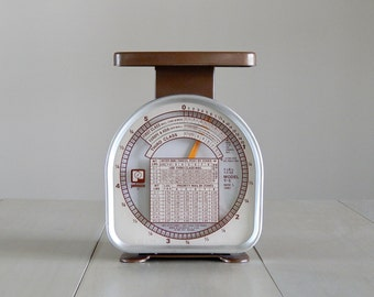 Vintage Pelouze Postal Scale/Vintage Scale/Tabletop Scale/Brown Scale/Pelouze/5lb Postal Scale/Working Condition