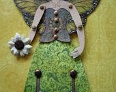 Sunflower Fairy Original Canvas Ornament