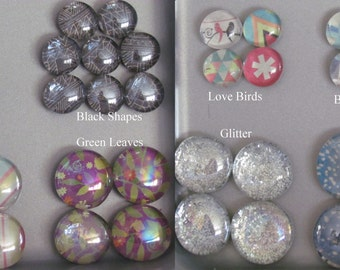 Decorative Glass Magnet Sets in Assorted Fun Patterns