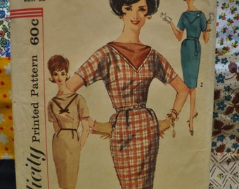 Vintage Simplicity Pattern 4038 Women's Dress