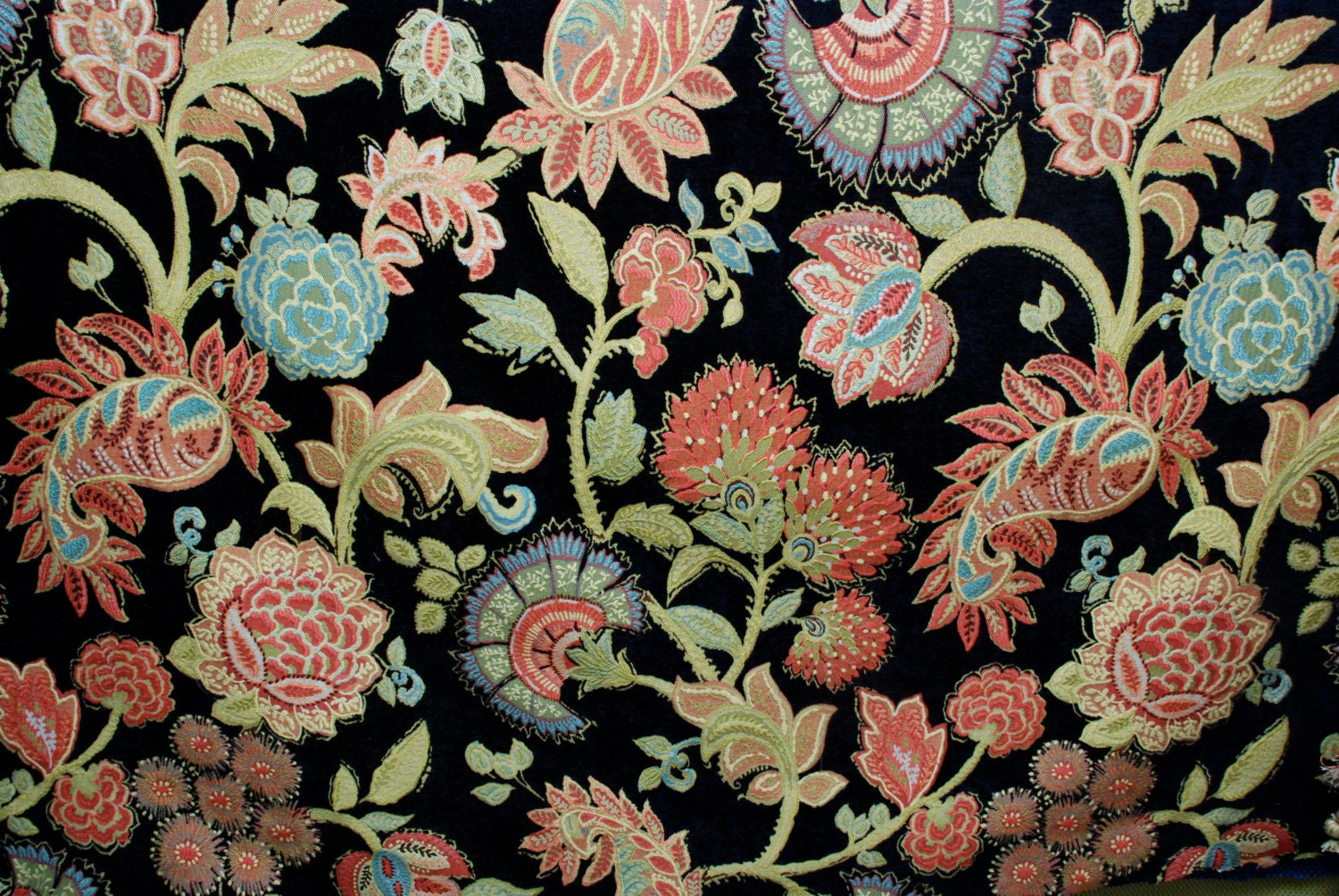 Home Decor Fabrics By The Yard: Bright Floral Upholstery Fabric