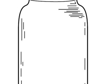 Coloring Page Mason Jars Craftbnb