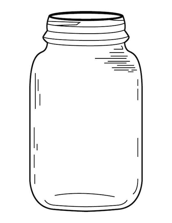 Mason Jar Coloring Page Prepossessing Mason Jar Coloring Page Design Ideas