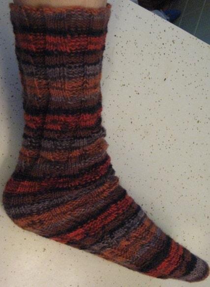 Knitting Pattern For Spiral Socks : Hand Knit Spiral Tube Socks