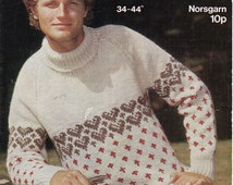 Mens Fair Isle Sweater Knitting Patterns : Unique fair isle sweater related items Etsy