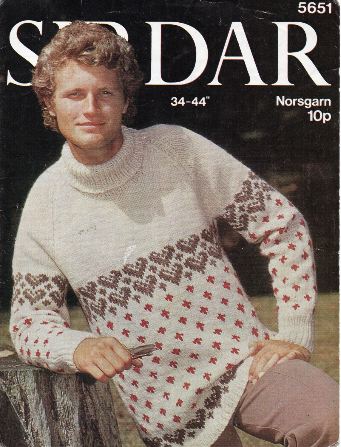 86e2c3bd70 mens chunky polo neck fair isle sweater knitting pattern pdf