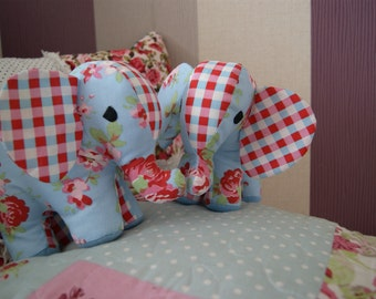 Elephant Soft Toy Childrens Gift in Cath Kidston Floral Fabric