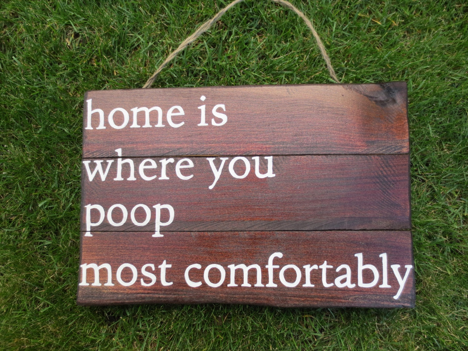 Bathroom sign for home - Home Is Where You Poop Most Comfortably Wood Sign Funny Bathroom Sign Poop