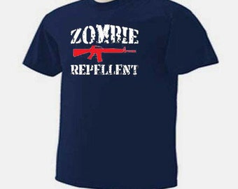 Zombie Repellent Gun Rifle Zombies T-Shirt