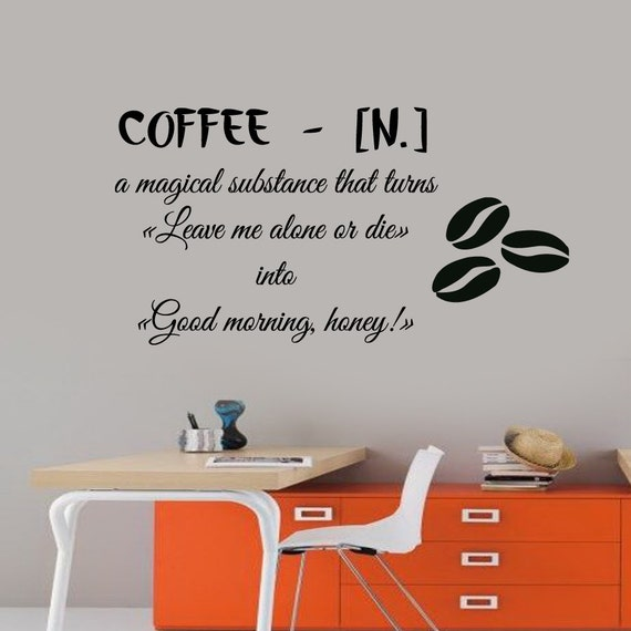 Good Morning Wall Decals Quote Coffee A By DecalMyHappyShop