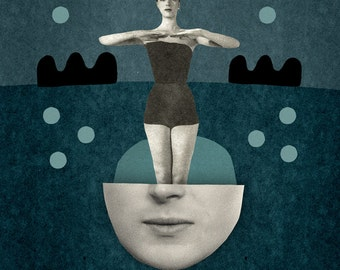 Super symmetry /  Art  Print / Poster /  Collage