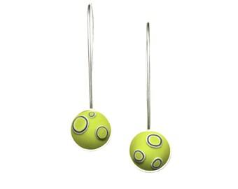 Sterling silver earrings - Wasabi drops