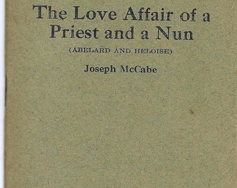 "Vintage Little Blue Book ""The Love Affair of a Priest and a Nun by Joseph McCabe No 1515"