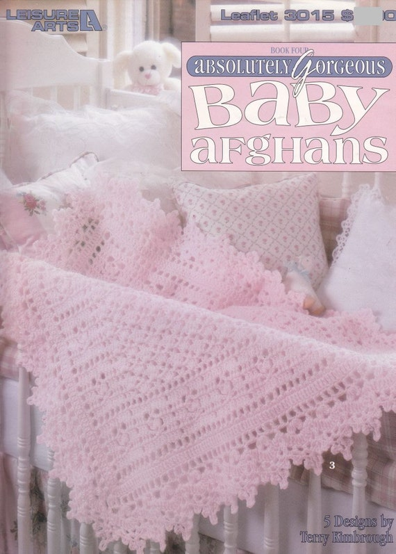 Free Online Crochet Baby Afghan Patterns : Items similar to Beautiful Baby Afghan Crochet Patterns ...