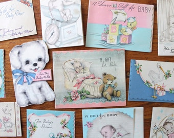1930's Baby Shower Card Collection