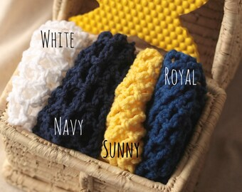Nearly 4 ft. Large Nautical Theme Toy Net in YOUR CHOICE of Colors - Toy Hammock - Stuffed Animal Organizer - Lovey Corral - Made to Order