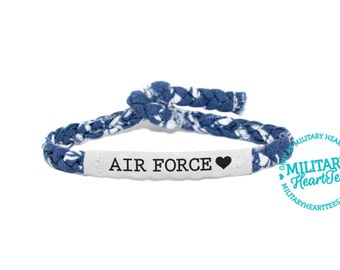 Air Force Customizable Military Bracelet - Army, Navy, Soldier Wife, Girlfriend, Fiance (women, teen girl)