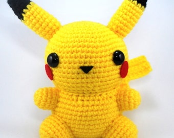 Schema Pikachu Amigurumi : Pokemon Pikachu PDF Toy Sewing Patterns and Tutorial from ...