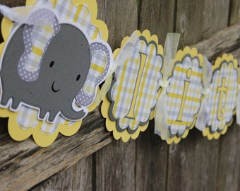 Baby Elephant Banner, Baby Shower