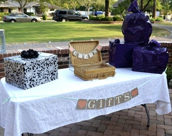 Wedding Garland / Gifts Banner / Gifts Area Decoration/ Trunk Sign/ Reception Gift Table/ Wedding Decoration/ Bridal Shower