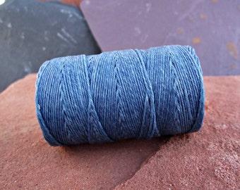 Williamsburg Blue Waxed Irish Linen Thread 4 Ply 10 Yards WIL-1,bookbinding thread,waxed linen thread,4 ply waxed linen,blue linen thread