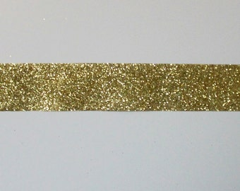 3 yds, gold glitter ribbons, silver glitter ribbons, green glitter ribbons, red glitter ribbons, width 1 inch