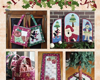 Hugs and Holly Christmas Quilt Project Book- 20 page full-color book