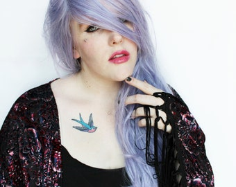 SALE Pastel wig | Pastel Purple wig | Long Purple wig, Purple Scene wig, Cosplay wig | Long Wavy wig | Indie Hipster wig | Lavender Mist