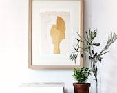 Light Modern Wall Decor Art Print, Beige and White Home Decor, 8 x 10, Living Room Art Collage