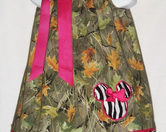 Minnie Mouse Pillowcase Dress / Camo / Zebra / Pink / Realtree / Birthday / Kids/ Baby / Girl / Infant / Toddler / Custom Boutique Clothing