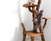 Cat Tree - Faux wood 3-tier cat tree