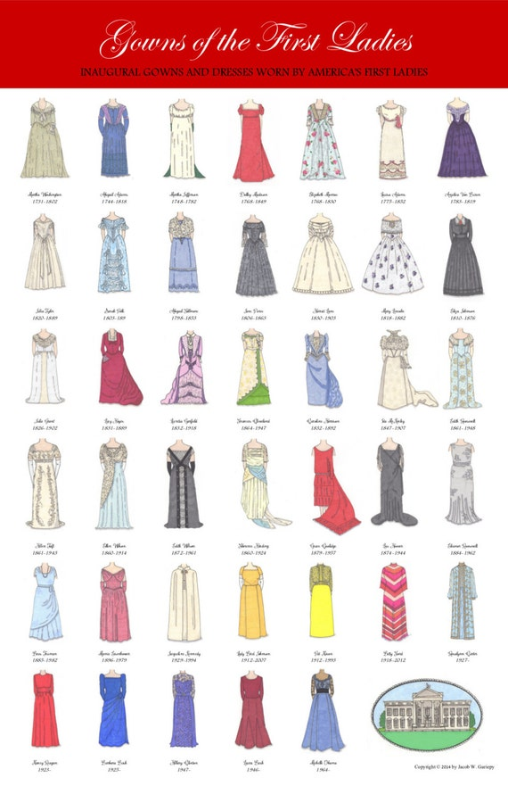 Items similar to First Ladies of the United States Fashion ...