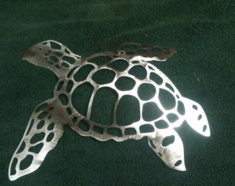 Plasma Cut Sea Turtle Metal Mancave Garage Wall Art Home Decor