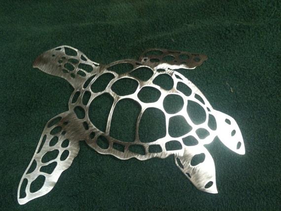 Plasma Cut Sea Turtle Metal Mancave Garage Wall Art Home Decor
