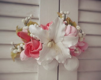 Bridal flower comb  Wedding Floral Hair Accessories