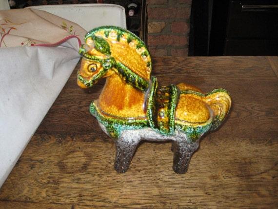 Studio Art Pottery Horse Funky European Design 70s