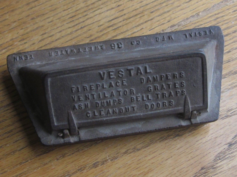 vestal fireplace damper advertising salesman sample ashtray
