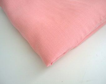 Chambray cotton poly fabric 1 yard in pink